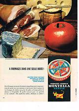 PUBLICITE ADVERTISING  1963   NESTLE   fromage  à tartiner MONTELLA