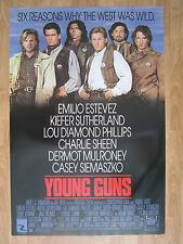 Movie Poster: YOUNG GUNS (1988) Original American One Sheet  Charlie Sheen