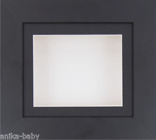 Small Black Deep Box Display frame Medals 3D 2D Objects Casts Art White Backing