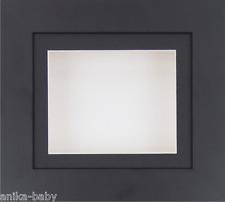 Petit Noir Boîte profonde Cadre d'affichage Médailles 3D 2D objets moules D