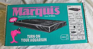 """Marquis Aquarium Light Hood 20"""" X 10""""  new in box w/Florescent Bulbs Walnut"""