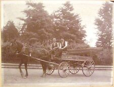 Cabinet Photo ~ Horse Drawn Railway Freight Wagon  C.E.R'Y     c1900