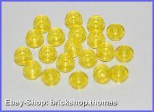 Lego 20 x Platte rund Transparent  gelb (1 x 1) - 4073 - Plate, Round  - NEU/NEW