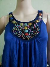 Sleeveless dress /beaded blouse