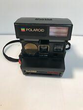 Vtg Polaroid Sun 660 Autofocus Instant 600 Flash Camera w/ Strap  very clean
