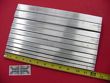 "10 Piece 6061 T6 ALUMINUM SQUARE BAR ASSORTMENT 3/8"", 1/2"", 5/8"", 3/4""& 1"" #5.52"