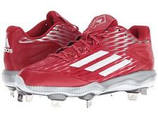New Womans Sz-7.5 Adidas Power Alley 3 Metal Softball/Baseball Cleats-Red/White