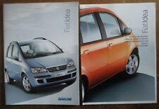 FIAT IDEA orig 2004 UK Mkt Sales Brochure + Specs / Colours / Options Booklet