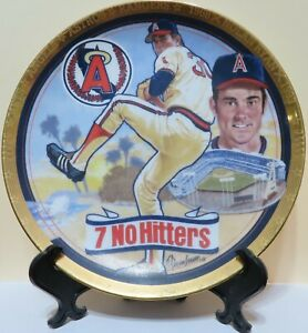 """NOLAN RYAN-7 NO HITTERS-MR. FASTBALL-ANGELS-HAMILTON COLLECTION-6 1/2"""" PLATE"""