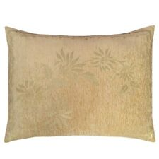 "2 pcs Chenille Beige (Mint Flowers) 22""x30"" Throw Pillow Cover Cushion Case Sham"
