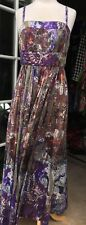 NWOT Suzi Chin For Maggy Boutique Spaghetti Strap Floral Maxi Dress Sz 10