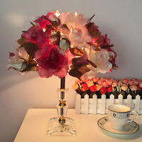 Modern Flowers LED Table Lamp Crystal Desk light Bedroom Bedside Lighting