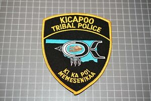 Kicapoo Oklahoma Tribal Police Patch (B11)