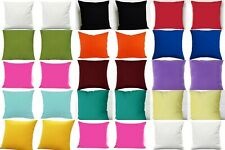 2 Pcs Indian Pillow Cover Sofa Decor Plain Cushion Covers Collection Of All Size