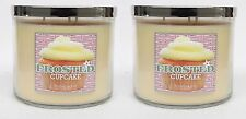 2 Bath & Body Works Frosted Cupcake 3-Wick Filled Candle 14.5