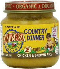 Chicken Brown Rice Country Dinner Earth's Best Organic Baby Food Stage 2 12x4oz