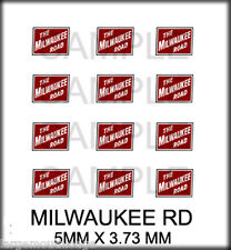 NEW PEEL STICK RIVER POINT STATION RSP BOLEY HO SCALE DOOR DECALS MILWAUKEE ROAD