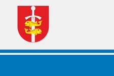 Fahne Flagge Gdynia Gdingen (Polen) 40 x 60 cm Bootsflagge Premiumqualität