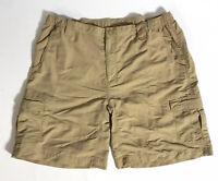 The North Face Men's Hiking Outdoors Cargo Shorts Sz XL 100% Nylon Stretch Waist