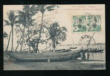 SE Asia Vietnam Indo-Chine ANNAM Tourane River Boats PPC used 1913