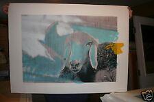 MENASHE KADISHMAN One  Sheep Orig. Ltd Ed. Signed    Retails for 1200.00