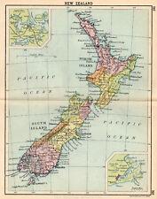 Map Of New zealand Antique John Bartholomew