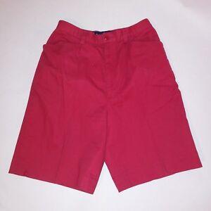 Ralph Lauren Womens Shorts Size 4 Solid Red High Waist
