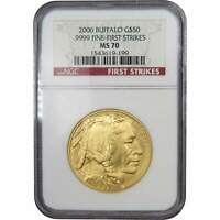 2006 $50 American Buffalo .9999 1 oz Gold US Coin MS 70 NGC First Strikes