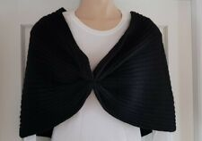 Ladies Warm Knitted Shawl Shrug Stole Wrap Cape Evening Grey or Black (2100)