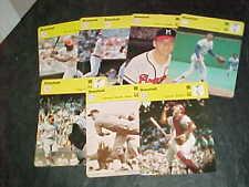 1977-79 Sportscaster Baseball Card Lot (8) with stars Warren Spahn Johnny Bench