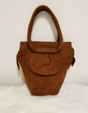 Rare and Timeless Vintage 40s Brown Suede Bucket Purse