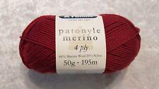 Patons Patonyle Merino 4 Ply #1034 Brick Red Sock Yarn 50g