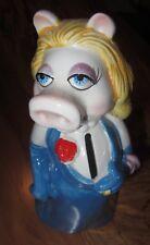 "Vintage Miss Piggy Ceramic Piggy Bank, Muppets, Jim Henson, Disney, Size 8"" Tall"