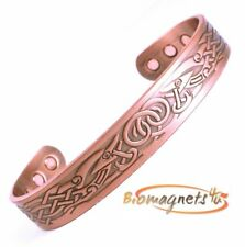 MENS LARGE NORDIC BANGLE SOLID COPPER MAGNETIC HEALING BRACELET-ARTHRITIS RELIEF