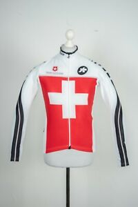 Mens Assos Cycling White Racing Campionissimo Jersey Longsleeve Jacket Size L