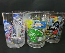 McDonald Walt Disney Lot 6 Drinking Glass Remember the Magic & Sharing A Dream