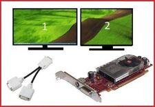 Dell Optiplex 330 360 380 390 Full Tower Dual DVI Monitors Video Card PCI-e x16