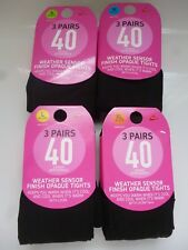 NEW 3 PAIRS 40 DENIER  APPEARANCE WEATHER SENSOR FINISH OPAQUE WITH LYCRA TIGHTS
