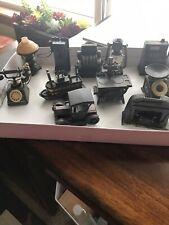 11 Vintage Metal Pencil Sharpeners Die Cast Slot Machine Lantern Stove lamps