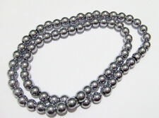 1filo/ 70 pz  perline pietre ematite rotondo 6mm colore argento