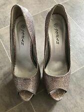 glitter high heels uk size 5