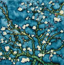 """Plum Blossom - Decorative Ceramic Art Tile - 8""""x8"""" by En Vogue - Art on Tiles"""