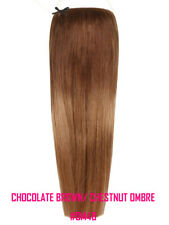 """Halo 20"""" Straight One Piece 100% Remy Human Hair Extensions #OM48 Ombre"""