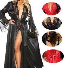 Chemise de nuit des femmes vêtements de nuit Sexy dentelle robe peignoir WAZ