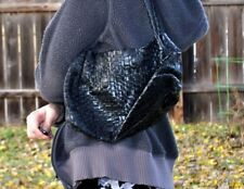 THE SAK Indio Demi Black Leather Hobo Shoulder Bag Purse Braided Strap