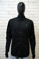 BRUNO BANANI Camicia Nera Uomo Taglia M Comoda Camicetta T-Shirt Men's Hemd Top