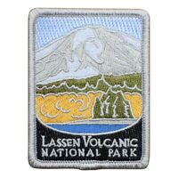"Lassen Volcanic National Park Patch - Cascade Range, California 3"" (Iron on)"
