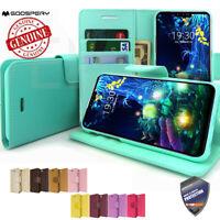 Durable Slim Card Flip Book leather wallet Case Cover for LG G7 / LG V50 V40 V30