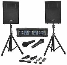 Peavey Audio Performer Pack Portable PA System w/ Mixer, Speakers, Mics, Stands