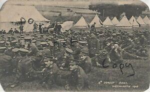 Soldier group 4th Battalion Dorsets Dorsetshire Regiment Weymouth 1908